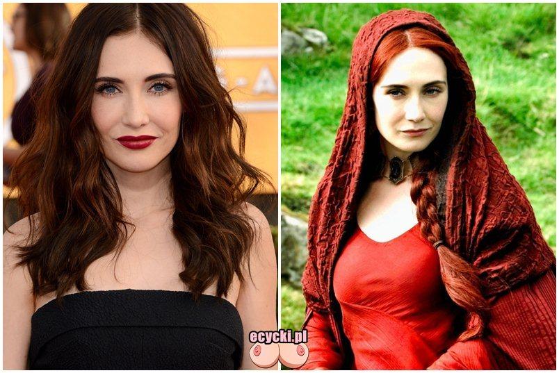 Carice van Houten gra o tron Melisandre game of throne aktorka serialu HBO - Gra o Tron – nagie sceny z cyckami w roli głównej: