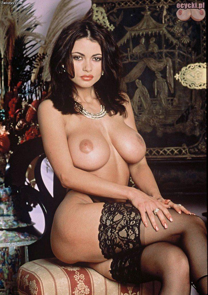 07. Veronica Zemanova klasyka porno - gwiazdy porno retro lata 90 - piekna cycata laska w ponczochach - zgrabna brunetka