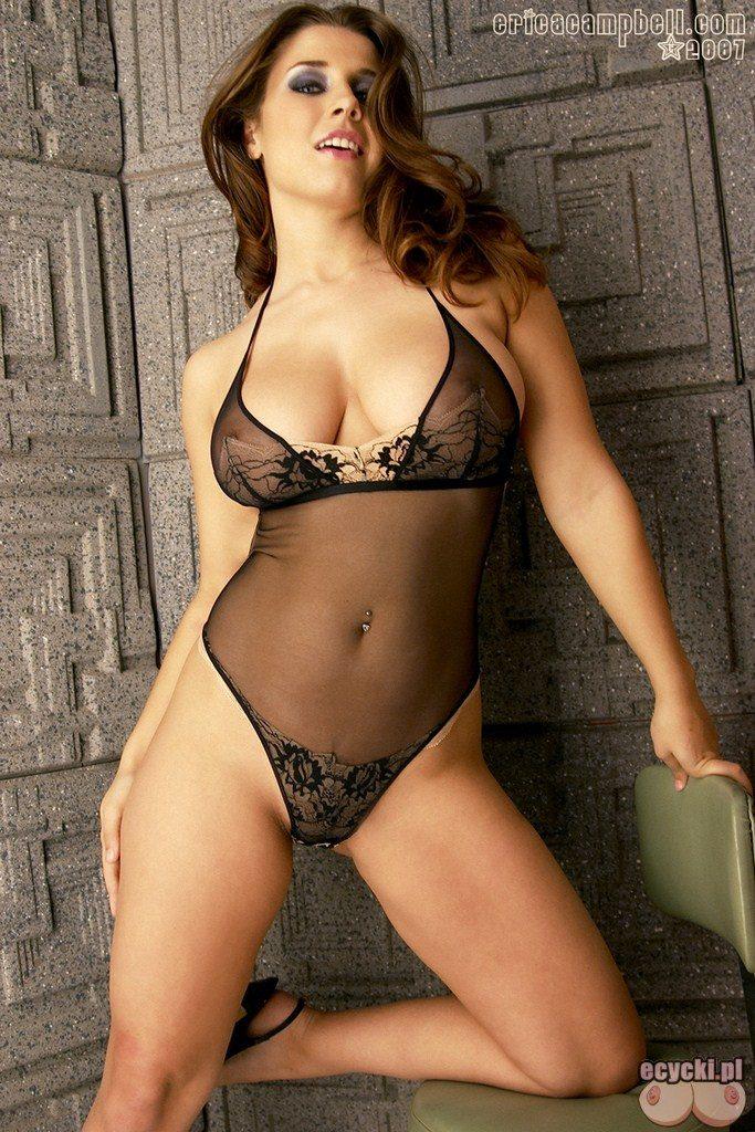 5. Erica Campbell piekna mloda laseczka w sexy body - przeswitujace czarne body - seksowna bielizna damska - dziewczyna kobiece ksztalty