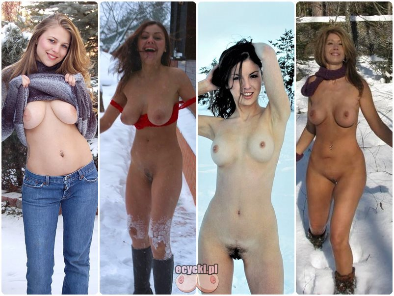 cycki na sniegu amatorki pokazuja swoje cycki w zimie zimowe piersi dziewczyny pokazuja nagie biusty gole cyce amatour girl show tits in the snow winter boobs - Cycki na śniegu - amatorki pokazują swoje cycki: