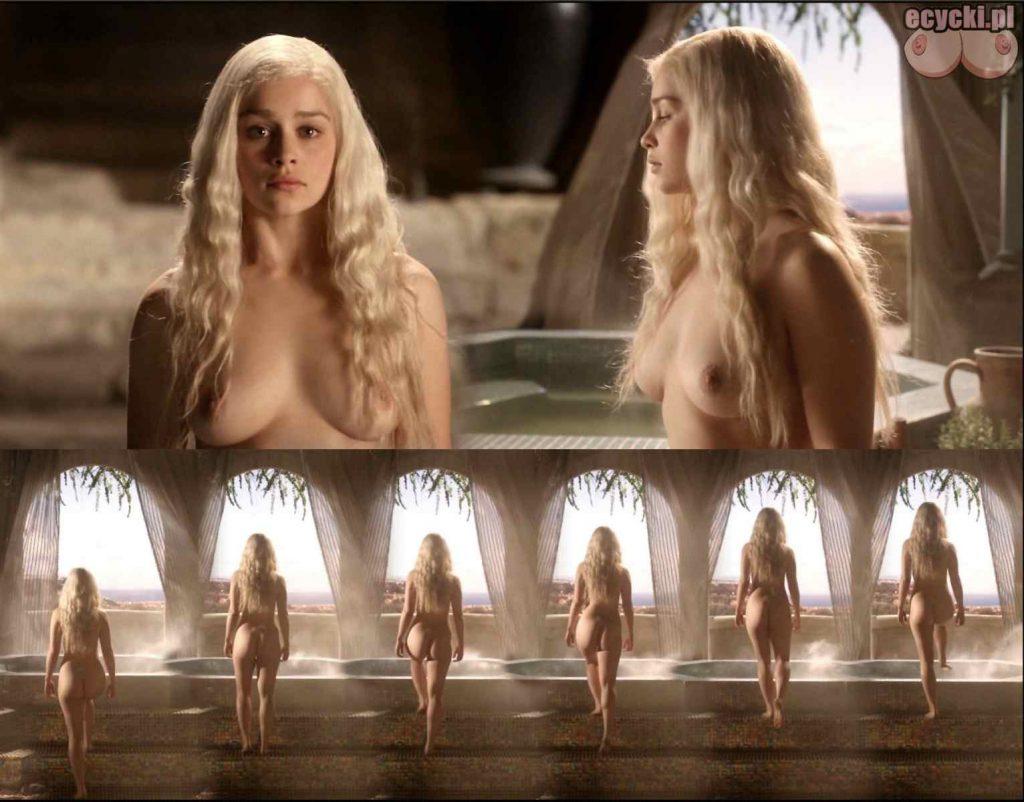 1. gra o tron emilia clarke nago nagie piersi cycki daenerys targaryen boobs nude tits breast 1024x802 - Gra o Tron – nagie sceny z cyckami w roli głównej: