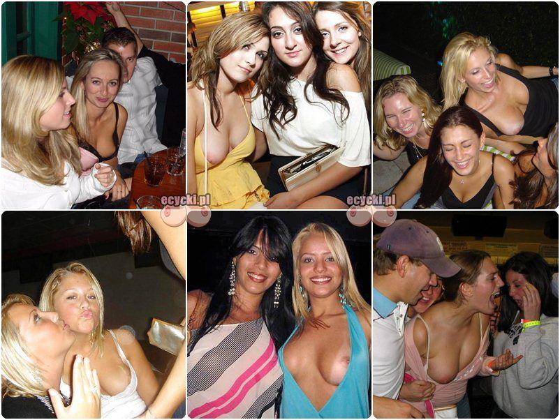 Wpadki lasek i wyskakujace cycki na imprezie - cycki na ipmrezach - pijane dziewczyny - wstawione laski i wypadajace cycki na party - cyce amatorek