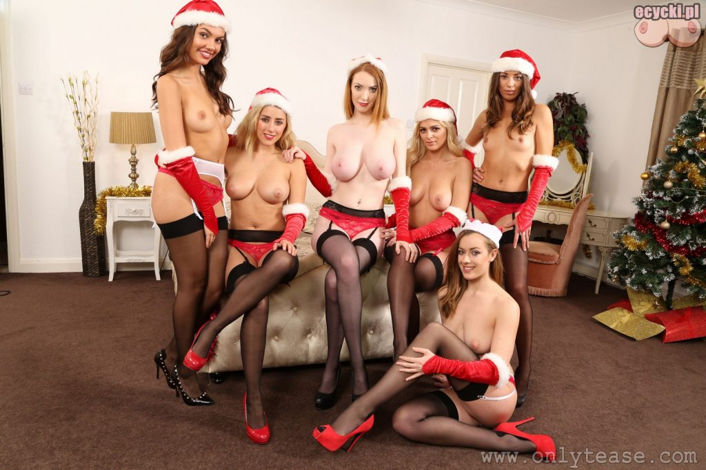16. Rosa Serena Abigail B Alice Brookes nude christmas - xmas girl nice tits naked - sexy llingerie hot stocking