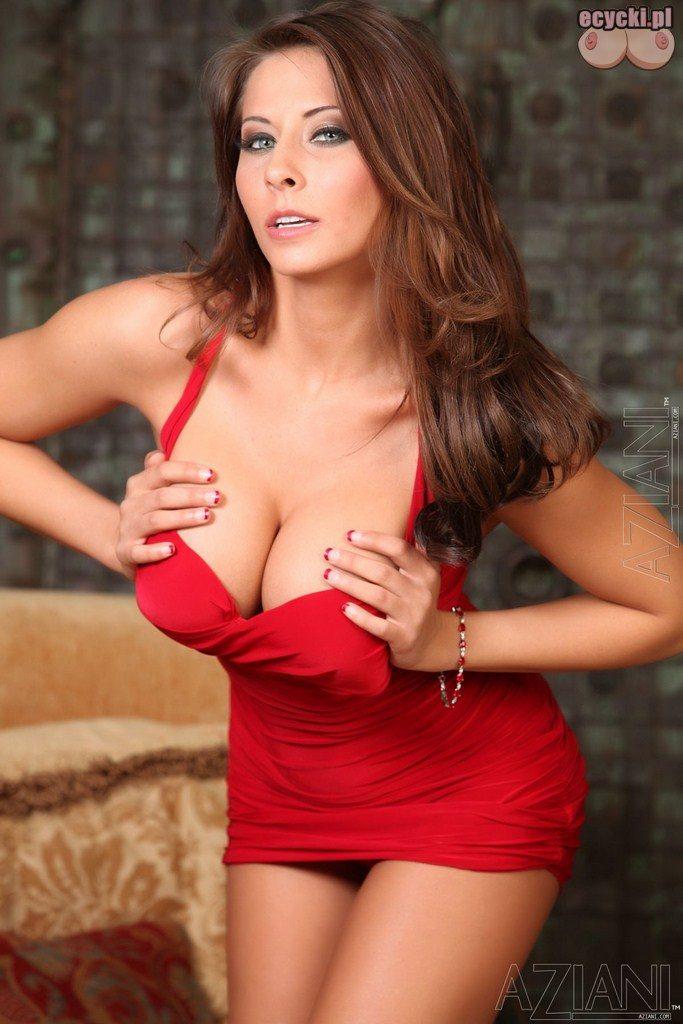 5. duze cycki w czerwonej sukience - czerwona sukienka duzy dekolt - fajna dziewczyna odlania duzy jedrny biust - sexy laska - ecycki