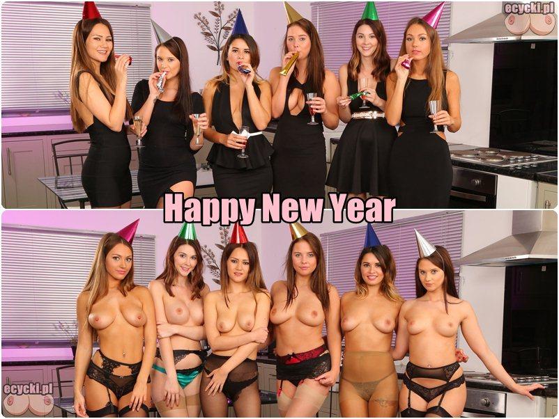 Sylwestrowe cycki - mlode dziewczyny i ich nagie naturalne cycki - mlode laski nago - fajne cyce - szczesliwego nowego roku - Happy New Year boobs nude