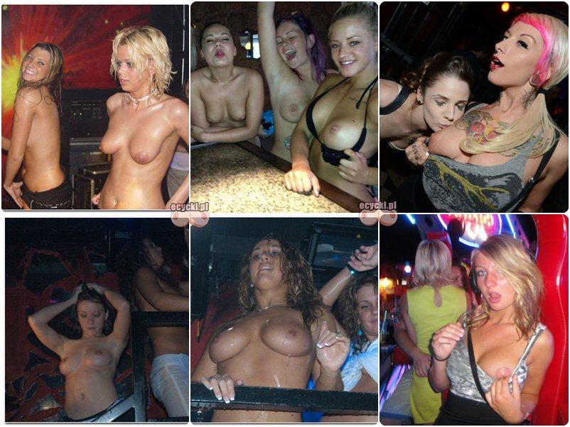 cycki w klubie - nagie cycki na dyskotece - mlode dziewczyny pokazuja piersi nago na imprezie - amatorki - tits nude in the club - ecycki