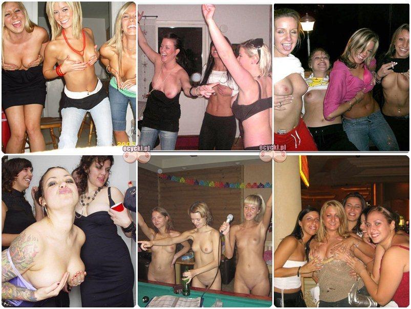 imprezowe laski - pijane dziewczyny pokazuja nagie cycki na imprezach - dziewczyny bawia sie na imprezie - amatroki - pokaz cyce - ecycki