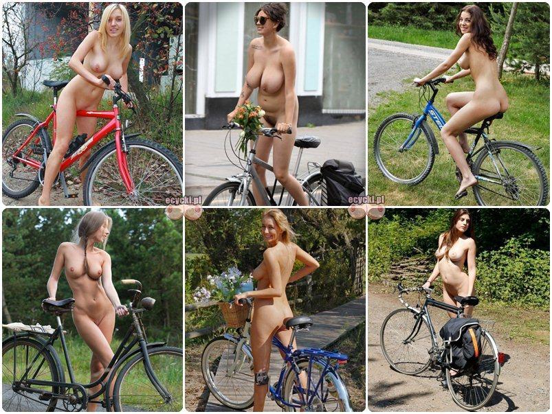 nagie rowerzystki - jazda na rowerze nagolasa - amatorki na wycieczce rowerowej - sportowe dziewczyny nago zdjecie - ecycki blog