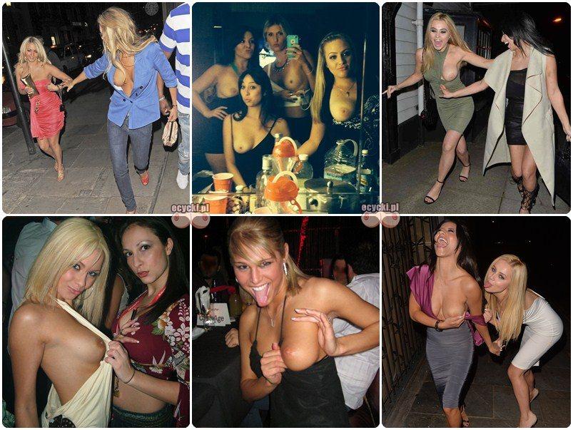 zabawowe laski na imprezach i nagie cycki - pijane laseczki pokazuja piersi - amatorskie biusty na imprezie - gorace sobotnie wypady