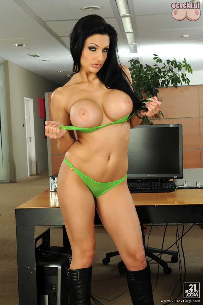 11. Aletta Ocean sexy busty porn star big tits nude - hot boobie in office naked pics