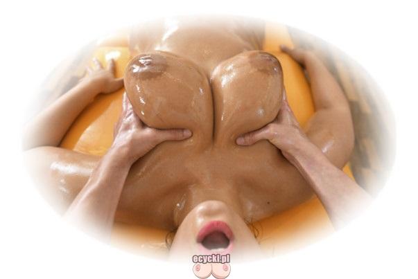 Masaz piersi olejkiem - duze jedrne piersi w olejku - masaz relaksacyjny czesci intymnych - macanie biustu - duze naturalne cycki - ecycki blog